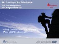 "Die Bürgschaftsbank ""bürgt"" - Stadtentwicklungsverband Ulm/Neu-Ulm"