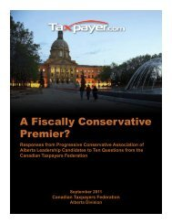 A Fiscally Conservative Premier - final