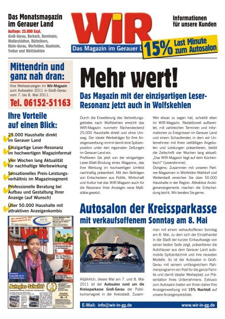 Autosalon der Kreissparkasse - Das WIR-Magazin im Gerauer Land