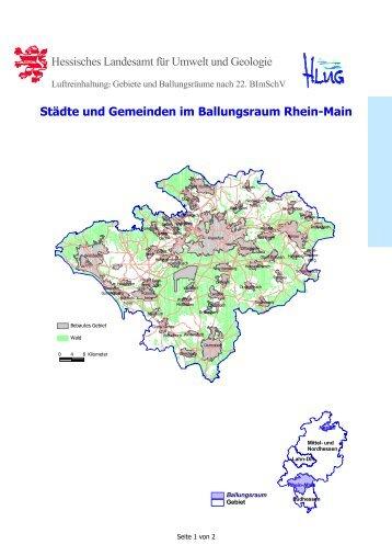 Ballungsraum Rhein-Main - Hessisches Landesamt für Umwelt und ...