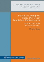 Individualisierung und mobile Dienste am Beispiel der Medienbranche