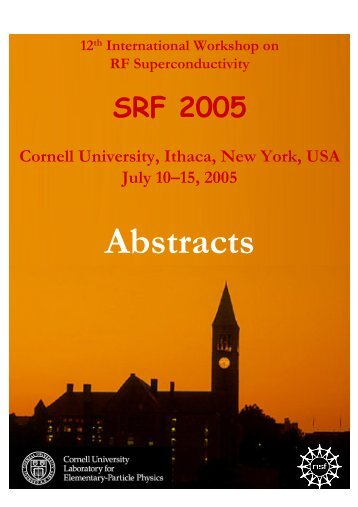 Abstract Brochure - LEPP - Cornell University