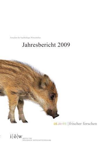 Jahresbericht 2009 - Institut für ökologische Wirtschaftsforschung