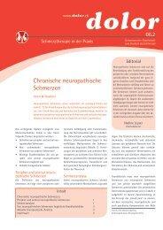 Chronische neuropathische Schmerzen - RehaxOne