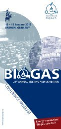 Conference Programme - Biogas