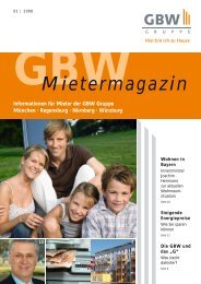Mietermagazin - GBW Gruppe