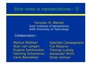 Shot noise in nanostructures - II