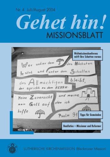 Bleckmar MB 4/04 - Lutherische Kirchenmission Bleckmar