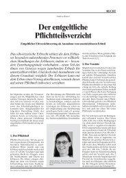 Der entgeltliche Pflichtteilsverzicht - Home - Ernst & Young - Schweiz