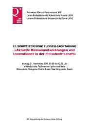 Flyer zum Download - Schweizer Fleisch-Fachverband SFF