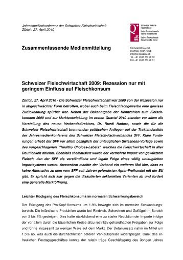 Rezession nur mit geringem Einfluss - Schweizer Fleisch ...