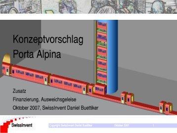 Konzeptvorschlag Porta Alpina - SwissInvent