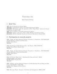 Curriculum vitæ. - Materials Science Institute of Madrid