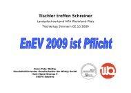 EnEV 2007 U in W/(m²K) - Büttig GmbH