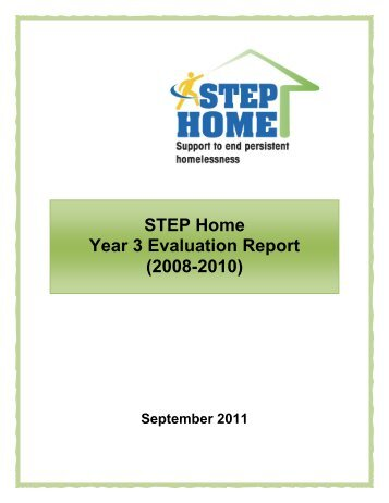 STEP Home Year 3 Evaluation Report - Social Services - Region of ...