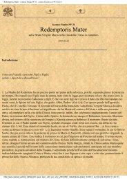 Redemptoris Mater - Ioannes Paulus PP. II - Lettera Enciclica ...