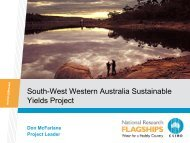 South-west Western Australia Sustainable Yields Project, Water