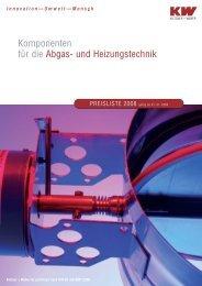 Komponenten für die Abgas- und Heizungstechnik - Kutzner+Weber