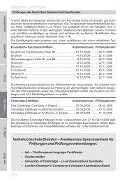 176 Sprachen – Prüfungen Volkshochschule Dresden ...