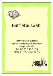 Buffetauswahl - Partyservice Büttgen