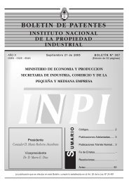 boletin de patentes - Instituto Nacional de la Propiedad Industrial