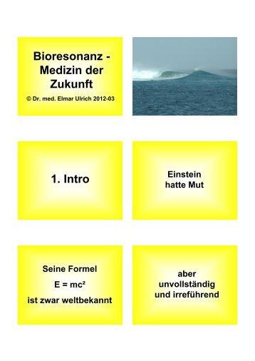 Bioresonanz - Medizin der Zukunft - Dr. med. Elmar Ulrich