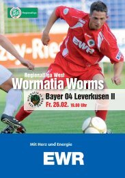 Bayer 04 Leverkusen II - Wormatia Worms