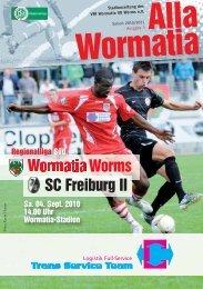 04.09.2010 SC Freiburg II - Wormatia Worms