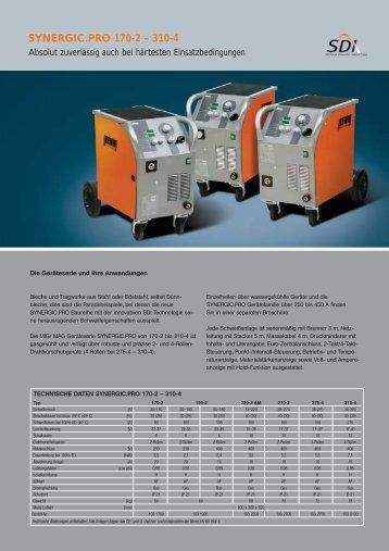 SYNERGIC.PRO 170-2 – 310-4 -  Drumm GmbH