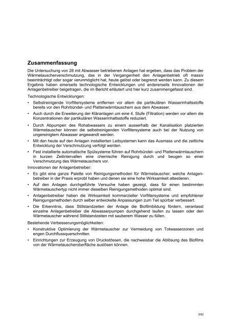 Wärmerückgewinnung aus - Eawag-Empa Library / Empa-Eawag ...