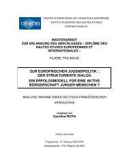 europäischen jugendpolitik : der strukturierte dialog - Institut ...