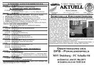 MSV Duisburg - FC Schalke 04 - Pfarrei Liebfrauen - Bistum Essen