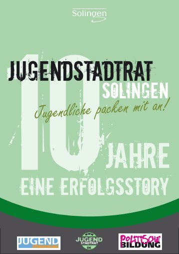 Broschuere 10 Jahre JSR - Stadt Solingen