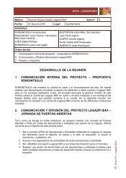 1 desarrollo de la reunión 1. comunicación ... - Legazpiko Udala
