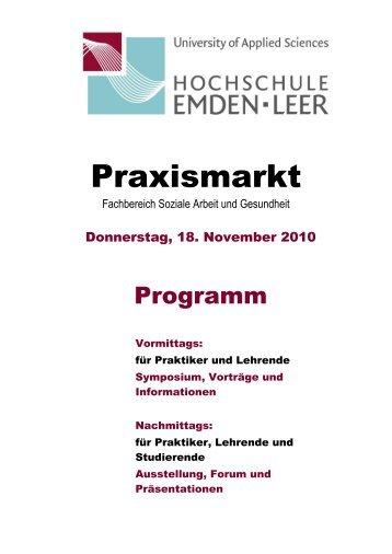 Praxismarkt im Coram - Hochschule Emden/Leer