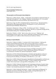 Prof. Dr. phil. Ingrid Burdewick Wissenschaftliche Publikationen ...