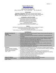 Dr. Minatrea's Resume - Dr. Neresa Minatrea