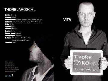 Vita zum download - Thore Jarosch