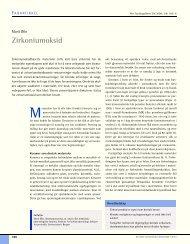 Zirkoniumoksid - Den norske tannlegeforenings Tidende