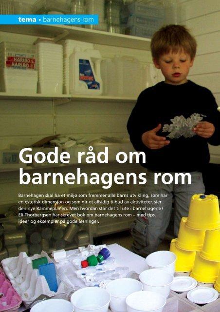 Gode råd om barnehagens rom - Barnehageforum