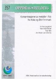 Konsentrasjoner av metaller i fisk fra Kola og Øst-Finnmark - Nina