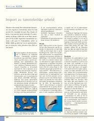 Import av tanntekniske arbeid - Den norske tannlegeforenings Tidende