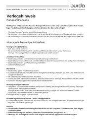 Verlegehinweis Planopor/Planoline - Herbert Burda GmbH