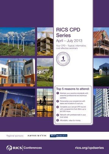 RICS CPD Series - April %E2%80%93 July 2013