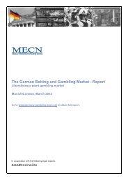 German Betting and Gambling Market - Report - MECN