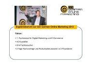 Ergebnisbericht zur GO! German Online Marketing 2012
