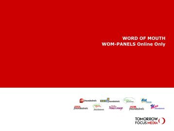 WORD OF MOUTH WOM-PANELS Online Only - Tomorrow Focus ...