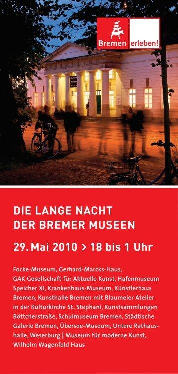 DIE LANGE NACHT DER BREMER MUSEEN 29.Mai 2010 ... - BSAG