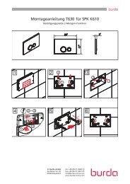 Montageanleitung T630 für SPK K610 - Herbert Burda GmbH