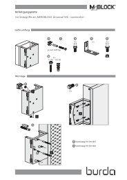 Halteplatte Metall WC/WT - Herbert Burda GmbH